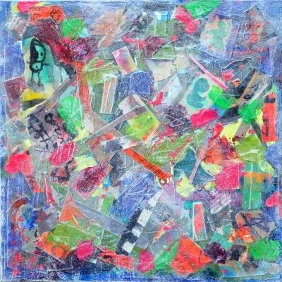 Collage kunstwerk 'Baby Blues'