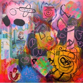 Collage kunstwerk 'Fly Away'