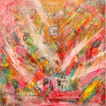 Collage kunstwerk 'Good Vibrations'