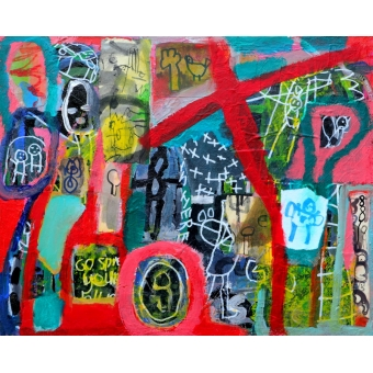 Kunstwerk a la Basquiat