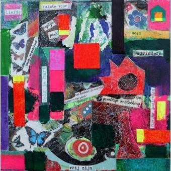 Collage kunstwerk 'Padvinders' VERKOCHT