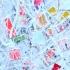 Modern schilderij à la Pollock 'Positive energy'