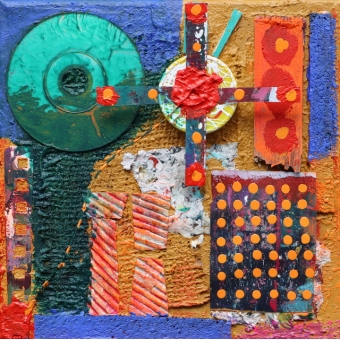 Collage assemblage 'Time is ticking'