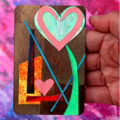 Collage kunstwerk 'Onvoorwaardelijke liefde'