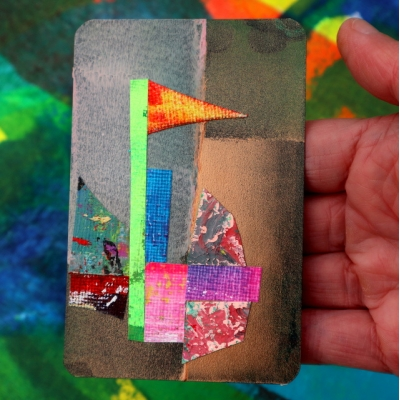 Collage kunstwerk 'Sailing home'