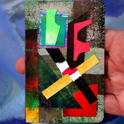 Collage kunstwerk 'Contact'