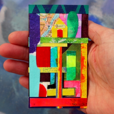 Collage kunst 'Bobbili'