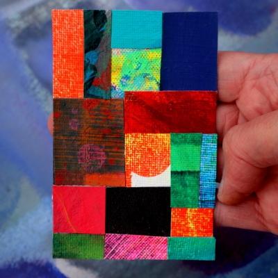 Abstracte collage 'Vrijheid is dichtbij'
