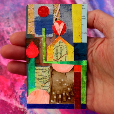 Collage kunst 'Trust your path'