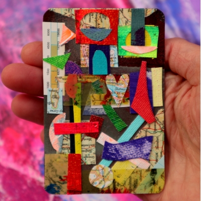 Collage kunst 'Wanderlust'
