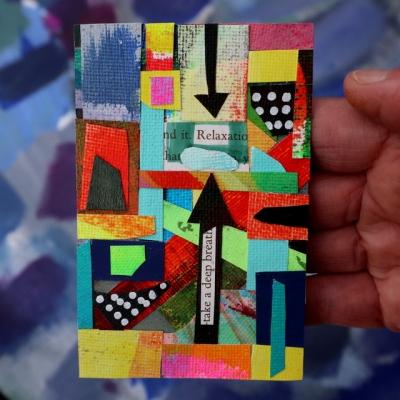 Collage kunstwerk 'Relax'