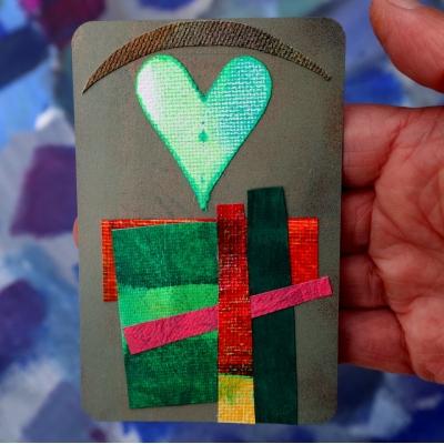 Collage kunstwerk 'Liefdesgeluk'