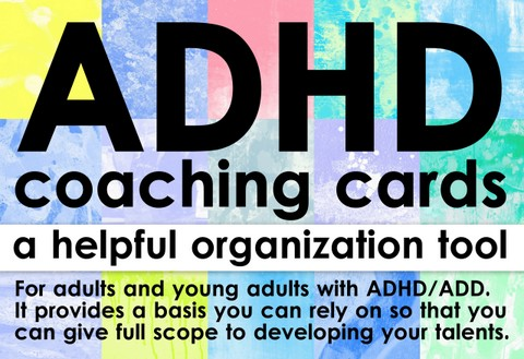 front of the adhd coaching cards