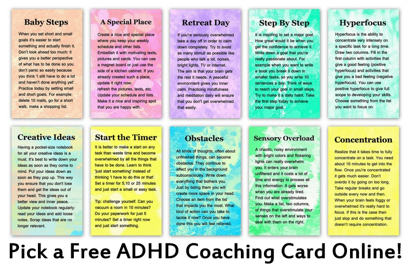 examples of adhd coaching cards you can draw online