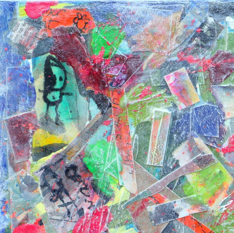 collage kunstwerk Baby Blues