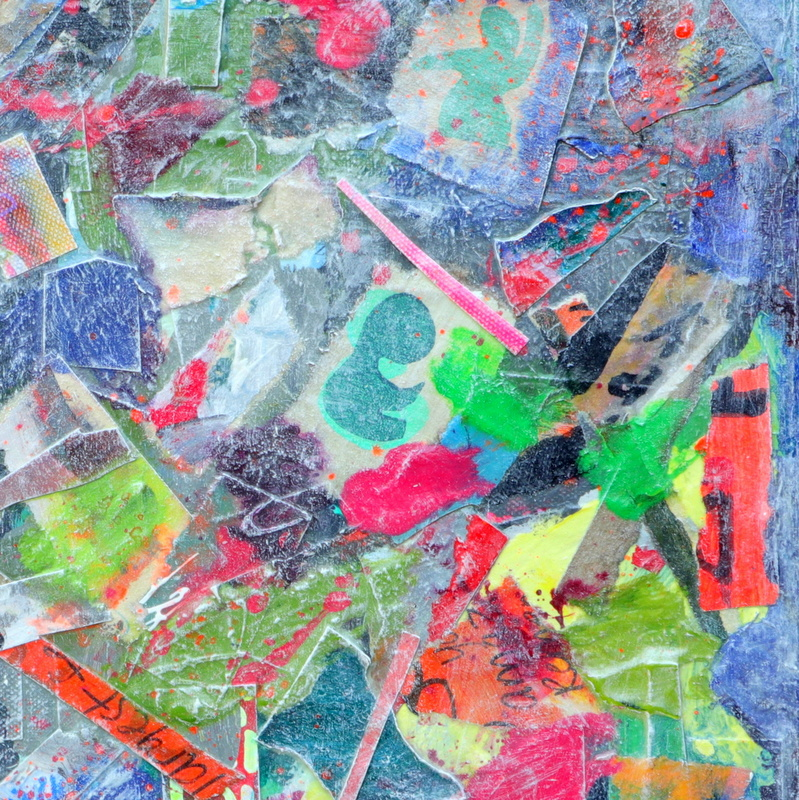 collage kunst baby blues