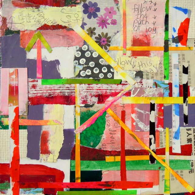 collage kunstwerk the path of joy