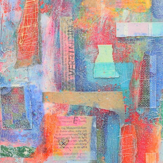 Abstract collage kunstwerk Zomer