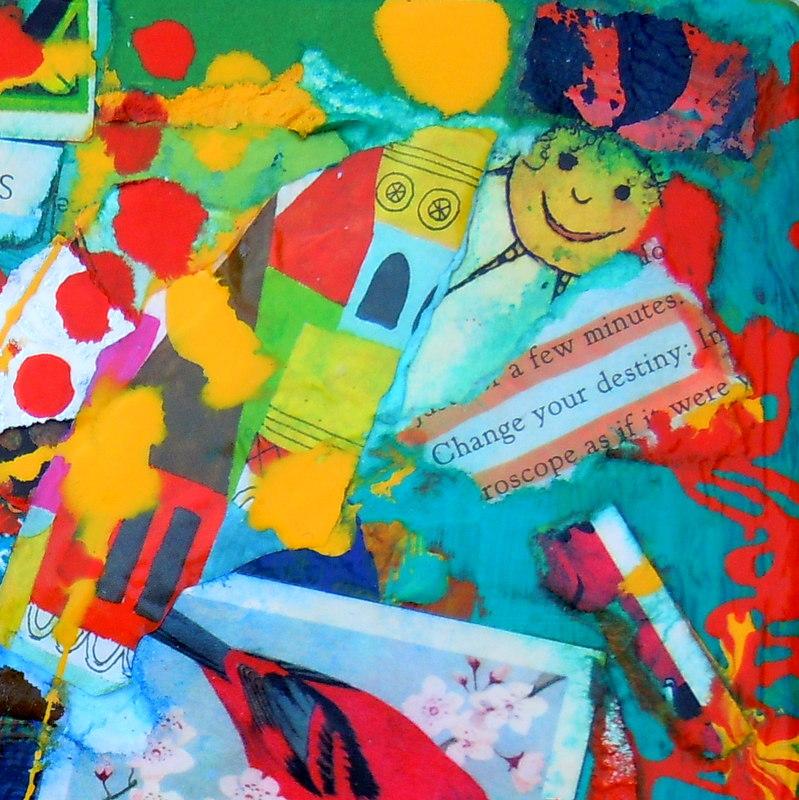 Collage kunstwerk kies je eigen pad